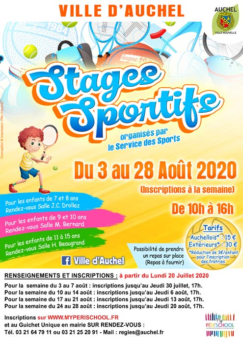 STAGES SPORTIFS AOUT 2020