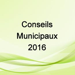 CONSEILS MUNICIPAUX 2016