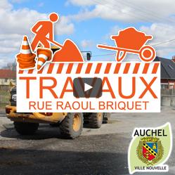Travaux rue Raoul Briquet