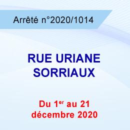 AUTORISATION DE STATIONNEMENT D'ECHAFAUDAGE RUE URIANE SORRIAUX