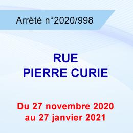 RESTRICTION DE CIRCULATION RUE PIERRE CURIE