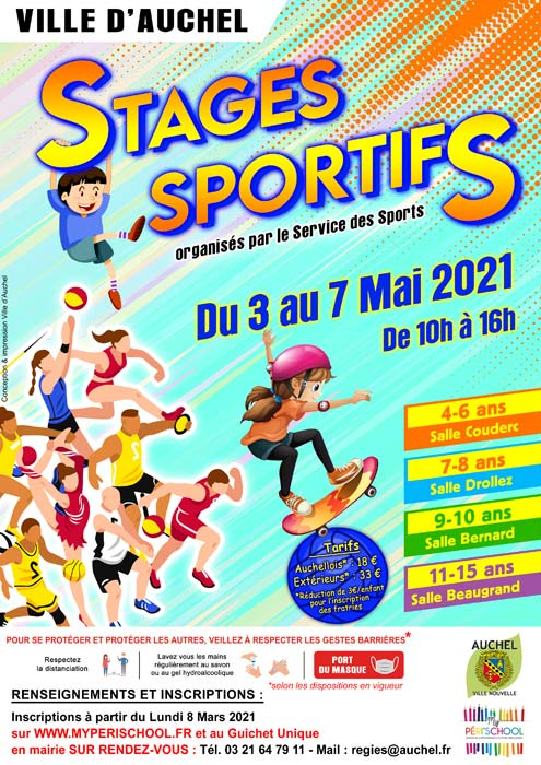 STAGES SPORTIFS MAI 2021
