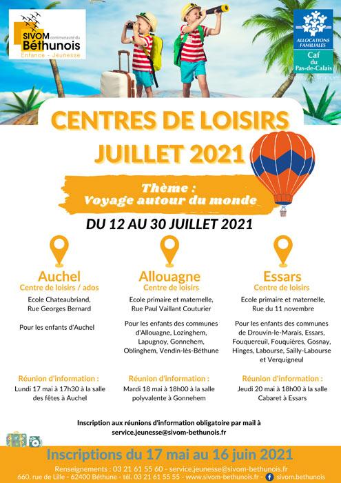 CENTRE DE LOISIRS JUILLET 2021