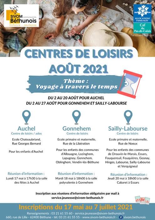 CENTRE DE LOISIRS AOUT 2021
