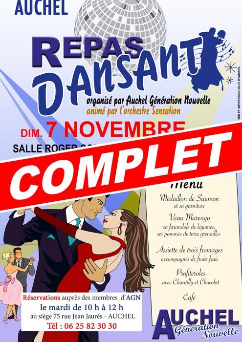 REPAS DANSANT AUCHEL GENERATION NOUVELLE